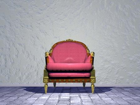 xvi: Single Louis XVI royal chair in grey the street