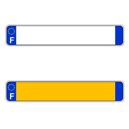 フランス語プレート番号、ヨーロッパ、白の背景 写真素材