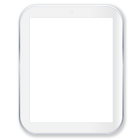 Tablet pc computer with blank screen in white background photo