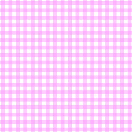 picnic blanket: Pink and white tablecloth pattern in square shape Stock Photo