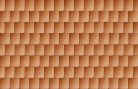 roof shingles: Seamless nice brown color roof tiles texture Stock Photo