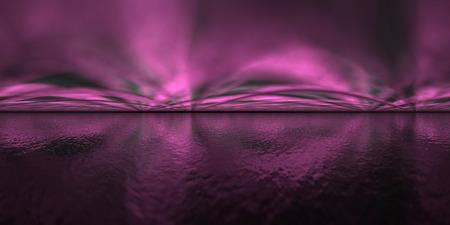 aurora borealis: Beautiful green aurora borealis upon the ocean, 360 degrees effect