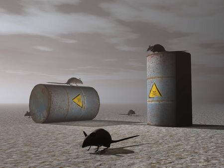toxic barrels: Toxic barrels - 3D render Stock Photo