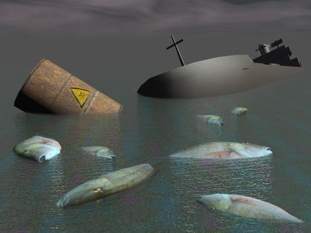 Industrial disaster - 3D render photo