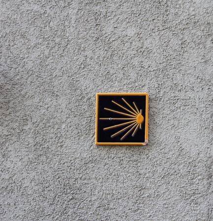 st jacques: St Jacques de Compostela  road sign