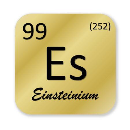 Einsteinium element photo