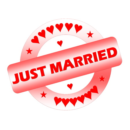 Just married stamp photo