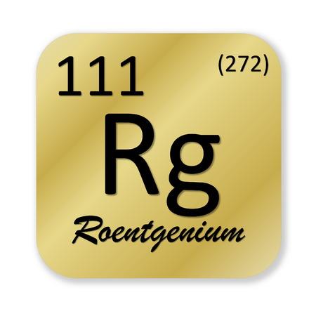 Roentgenium element photo