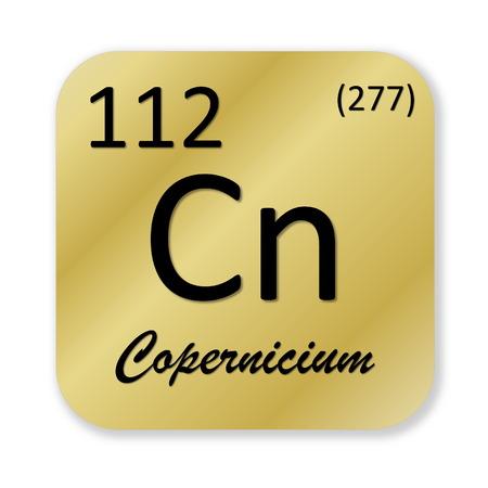 isotope: Copernicium element Stock Photo
