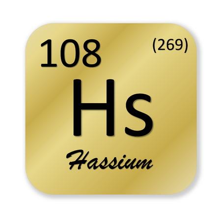 Hassium element photo