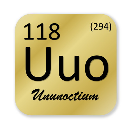 isotope: Ununoctium element Stock Photo