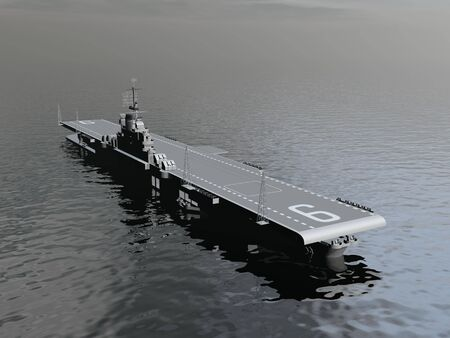 aircraft carrier: Aircraft carrier - 3D render