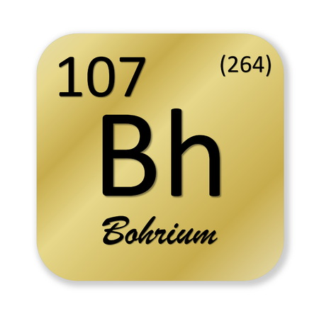 isotope: Bohrium element Stock Photo