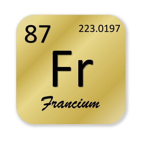 Francium element photo