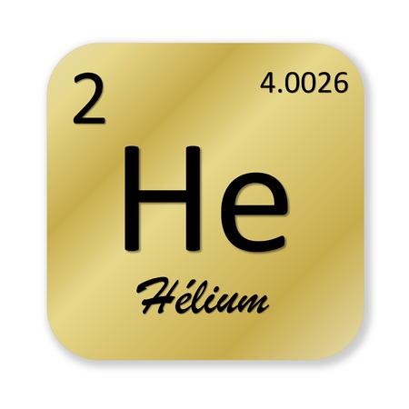 Helium element, french photo