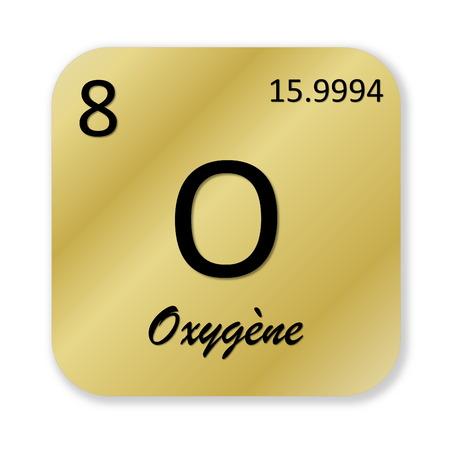 oxygene: Oxygen element, french oxygene Stock Photo