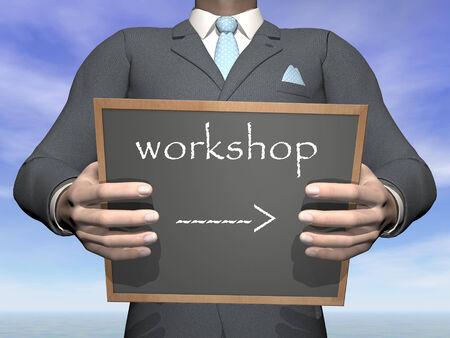 Businessman workshop - 3D render photo