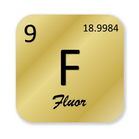 fluorine: Fluorine element, french fluor