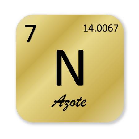 Nitrogen element, french azote photo