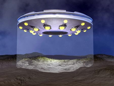 UFO landing - 3D render photo