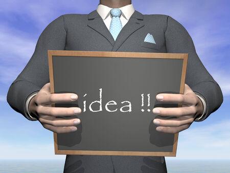 Businessman idea - 3D render photo