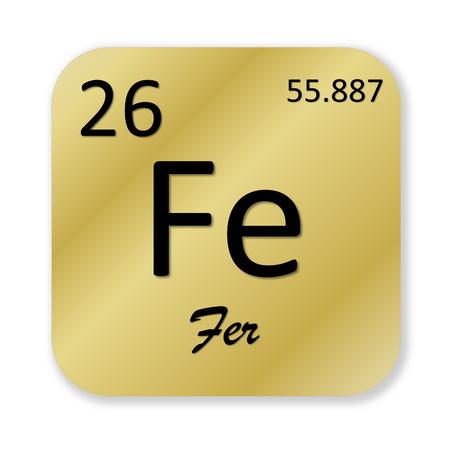 Iron element, french fer photo