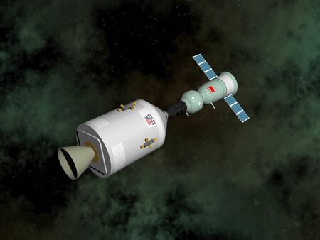 Apollo-Soyuz test project - 3D render Stock Photo