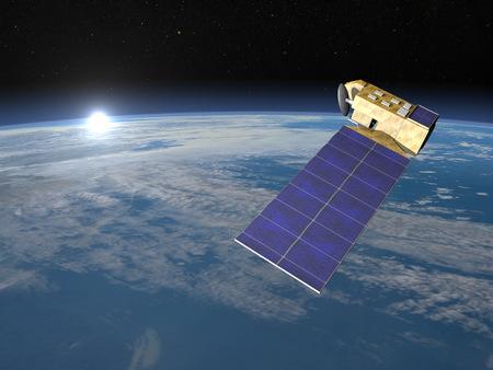 eos: Aura satellite - 3D render