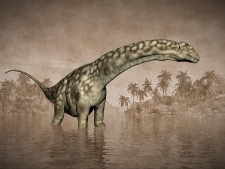 Argentinosaurus dinosaur - 3D render photo
