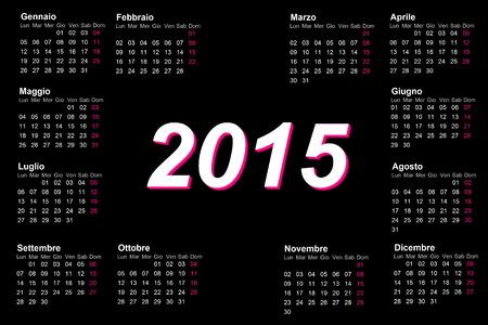 European italian 2015 year calendar photo