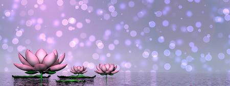 ユリの花の 3 D レンダリングします。 写真素材