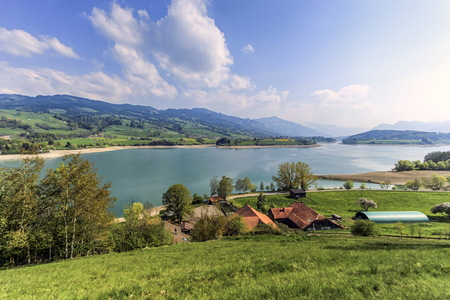 gruyere: Lake of Gruyere, Switzerland