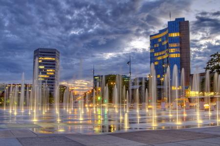 United-Nations place, Geneva, Switzerland, HDR Фото со стока - 34132341