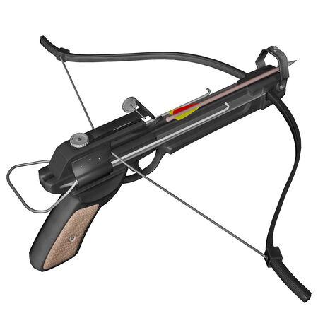 crossbow: Hand crossbow - 3D render Stock Photo