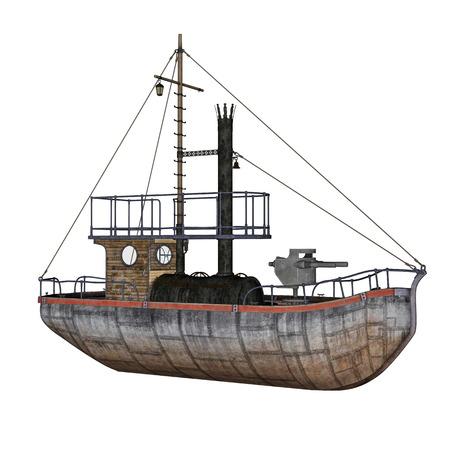 coast guard: Patrol boat - 3D render