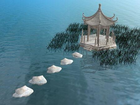 gazebo: Steps to gazebo - 3D render