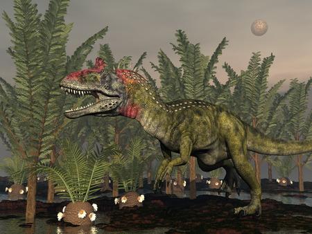 Cryolophosaurus dinosaur - 3D render Banque d'images