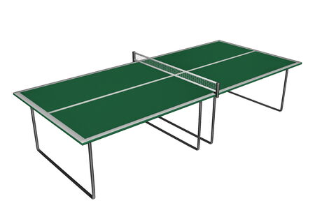 Table Tennis table - 3D render photo