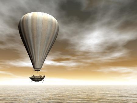 air baloon: Hot air baloon - 3D render