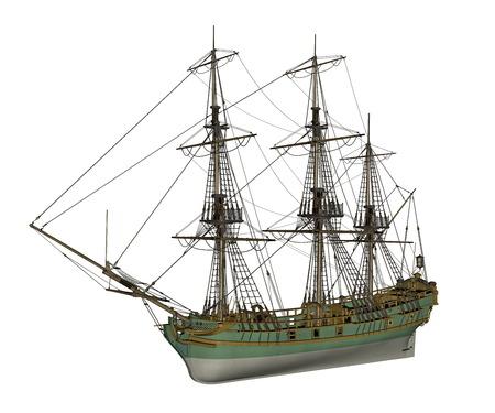 slave: Aurora slave ship - 3D render