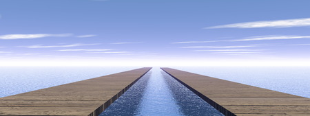 jetty: Same direction - 3D render