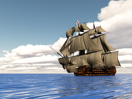 hms: Old ship HSM Victory - 3D render