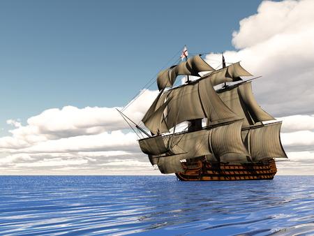 old ship: Old ship HSM Victory - 3D render