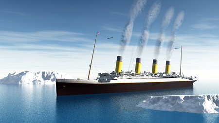 Titanic ship - 3D render Фото со стока - 37091568