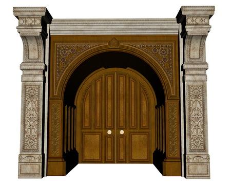 palace: Palace entrance - 3D render
