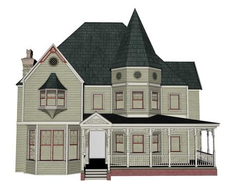 exteriors: Victorian house - 3D render