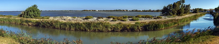 camargue: Sea channel, Camargue, France Stock Photo