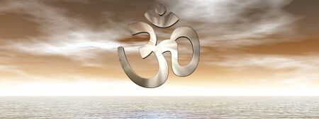 aum: Aum symbol - 3D render Stock Photo