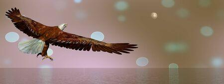 Eagle flying - 3D render Stock Photo