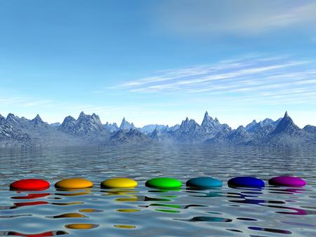 Chakra steps - 3D render